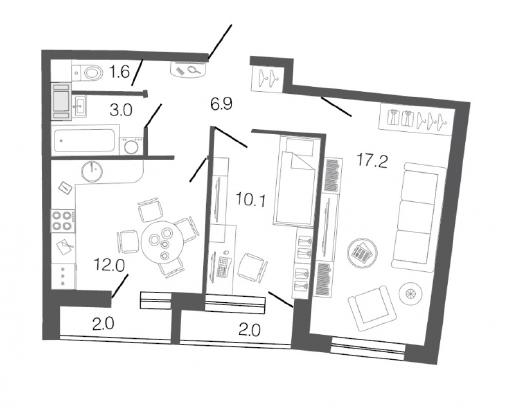 купить квартиру метро комендантский проспект