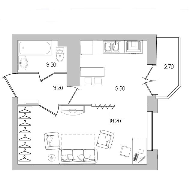 купить однокомнатную квартиру пр просвещения